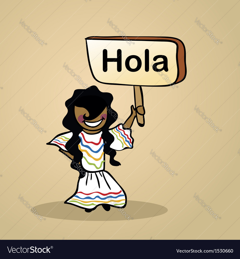 Hello from mexico people vector