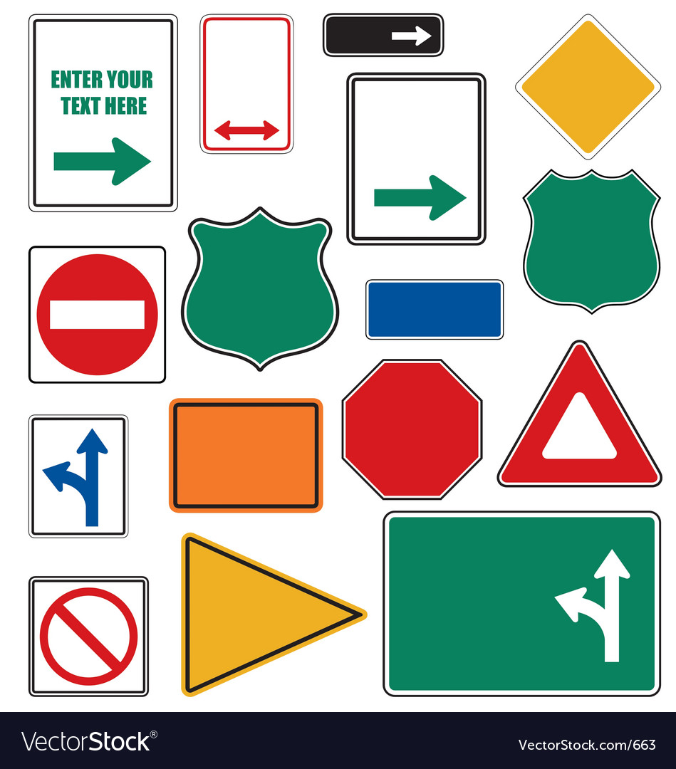 Free road signs vector