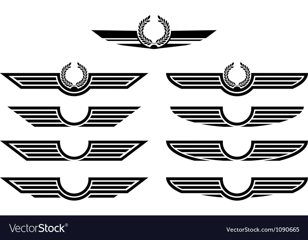 Set of insignias stencils vector
