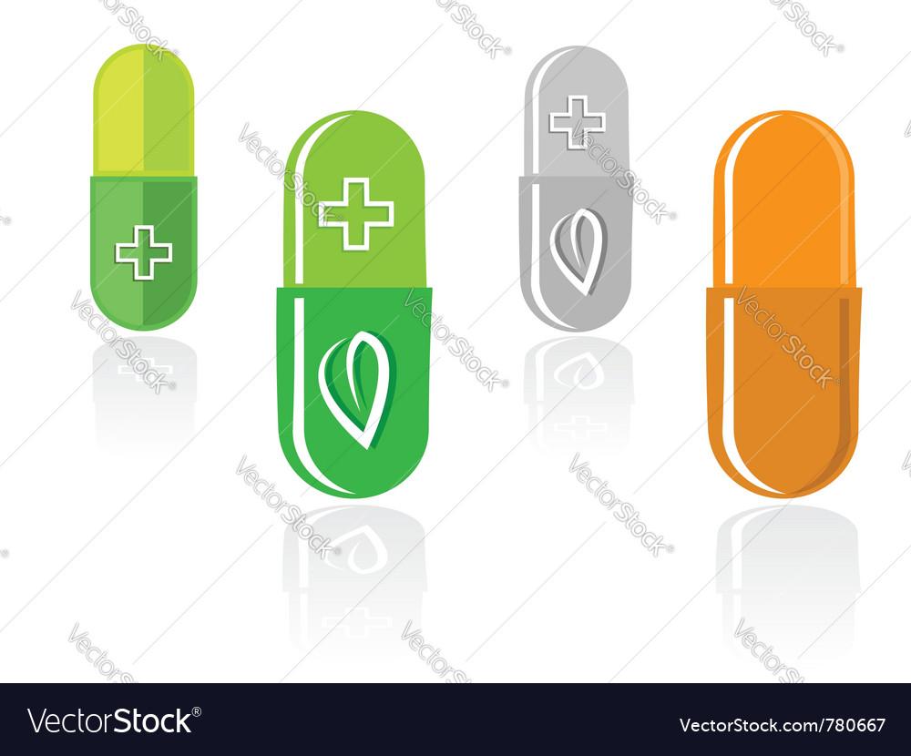 Pill capsules vector