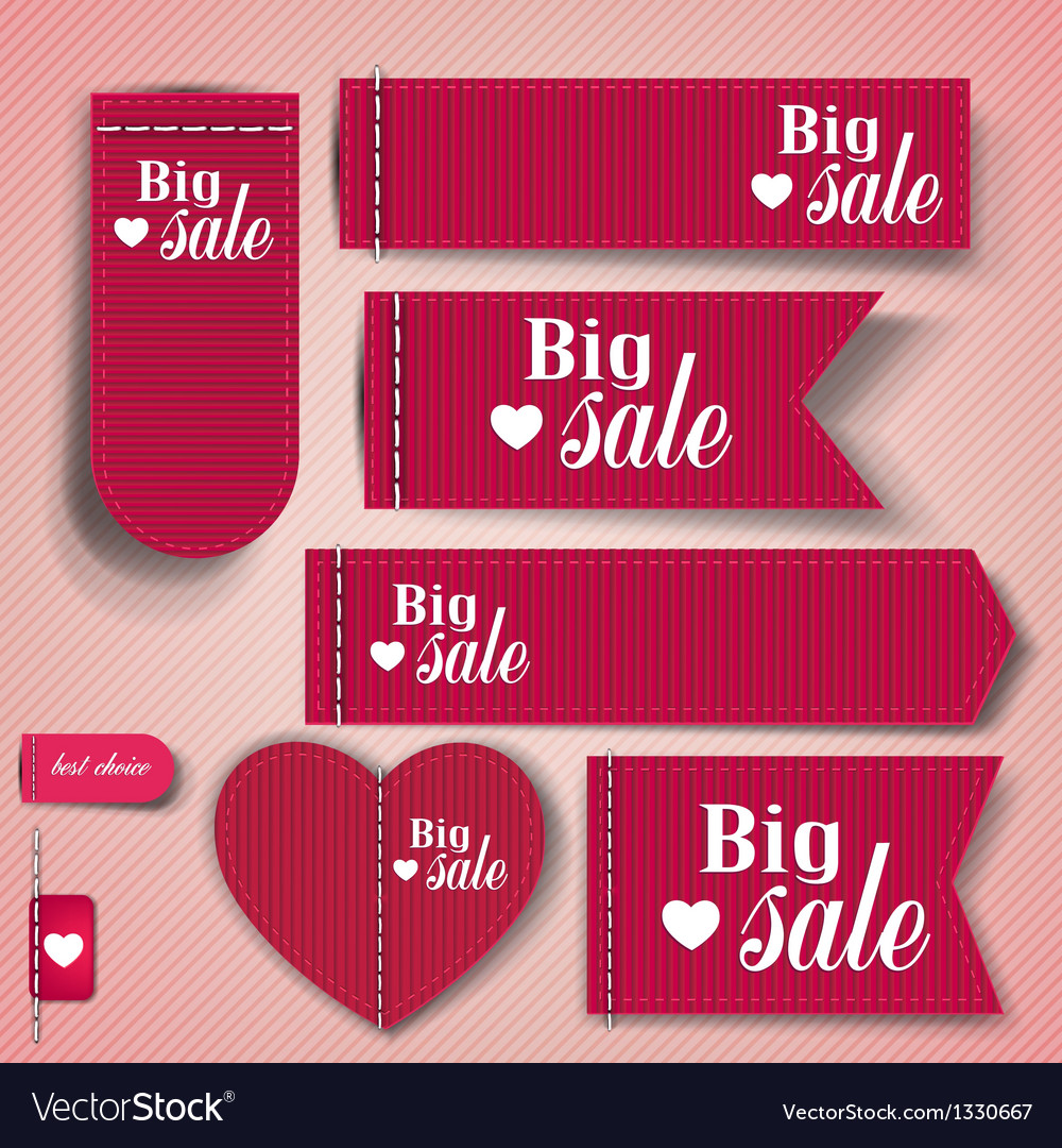 Set of bubbles stickers labels tags big sale vector
