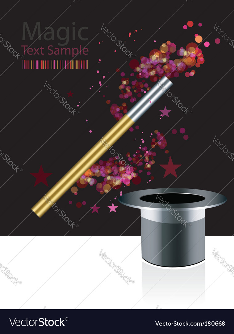 Magic background vector