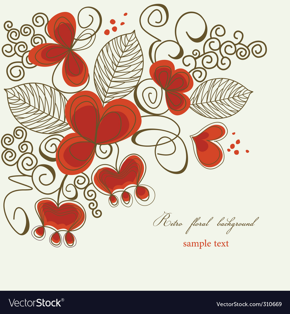 Romantic floral corner vector