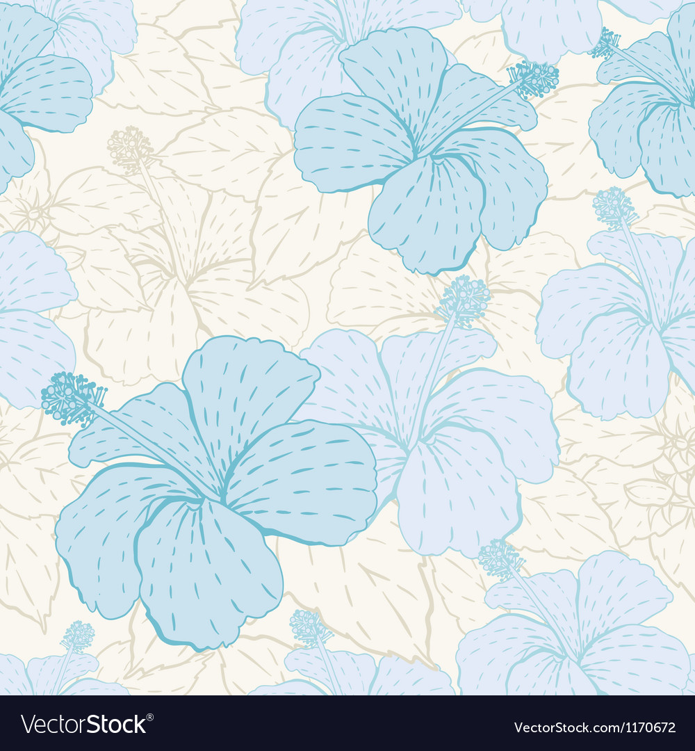 Elegance seamless pastel flower pattern vector