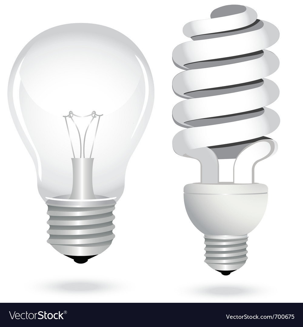 Energy saving light bulb vector