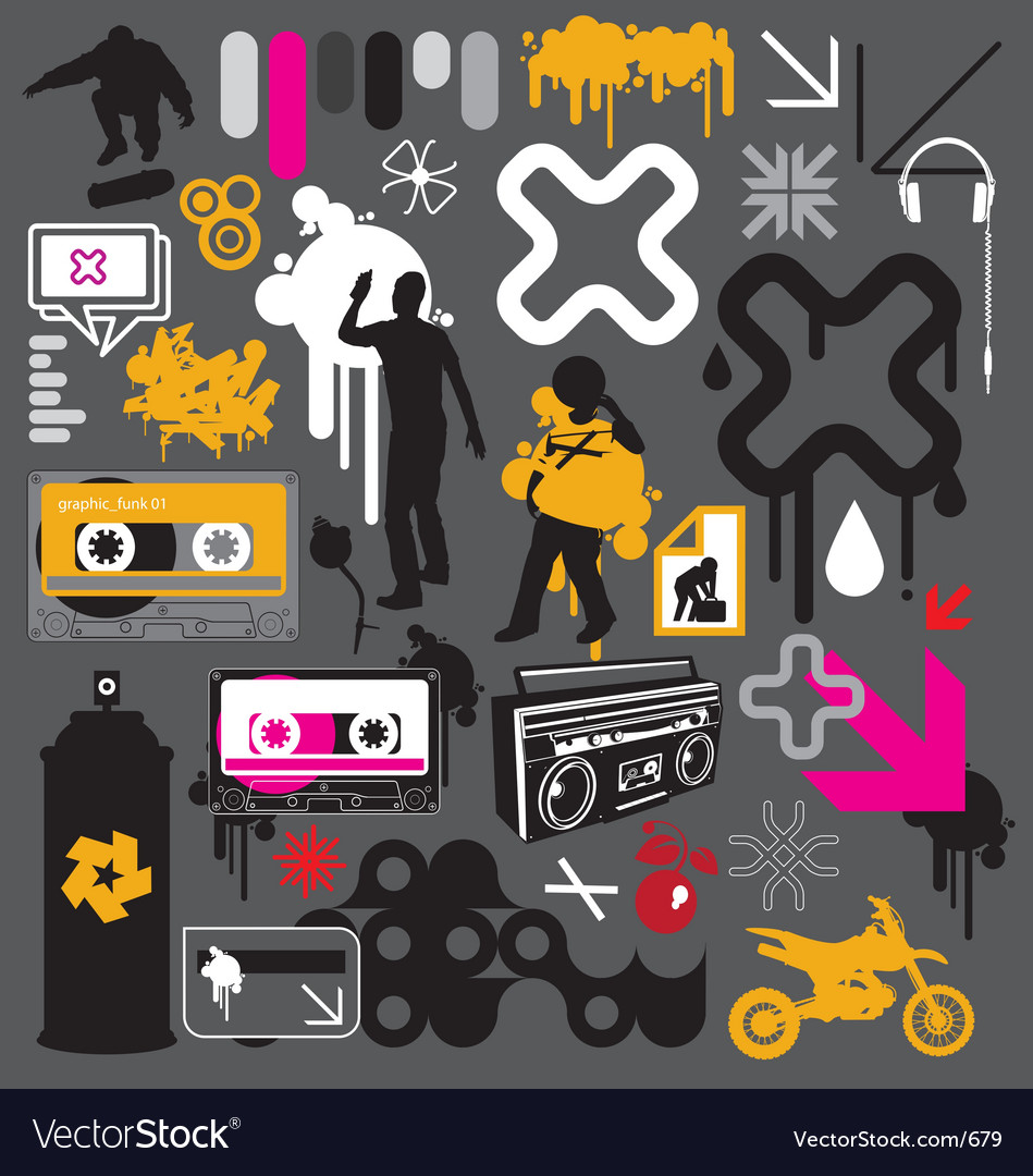 Free graphic funk vector