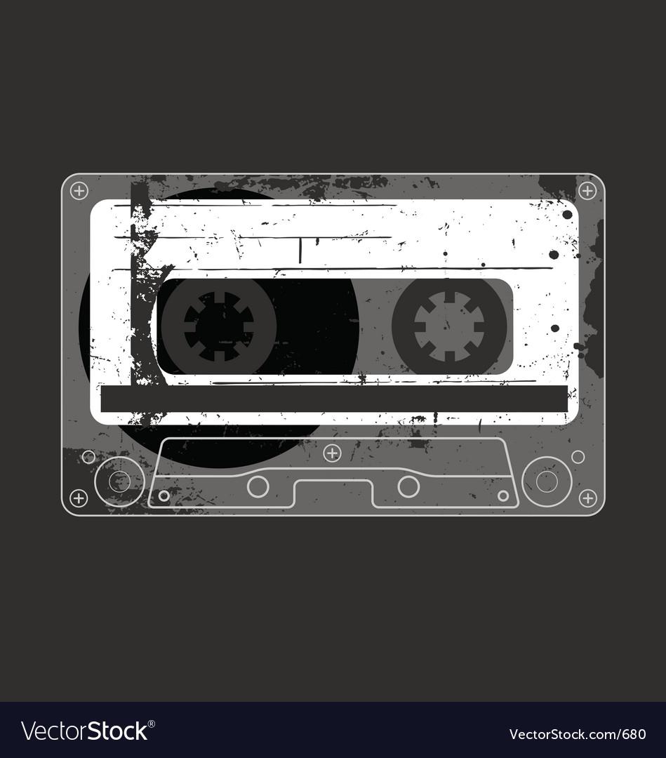 Free audio cassette tape grunge vector