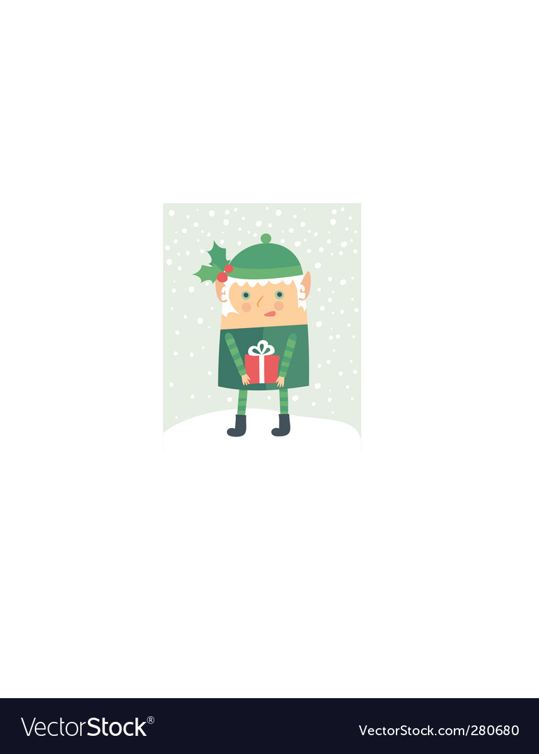 Cartoon christmas elf vector