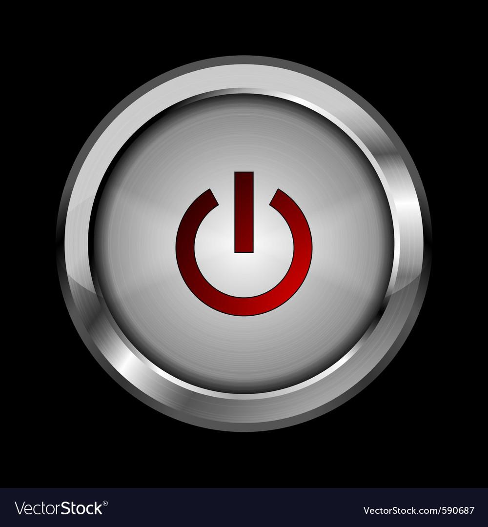 Abstract metal button design vector