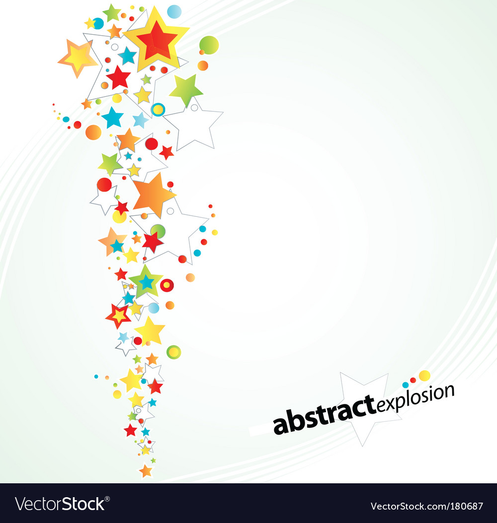 Starry explosion background vector