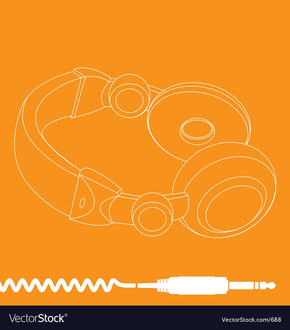 Free headphones vector