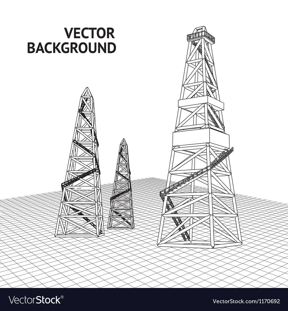 Oil platform vector