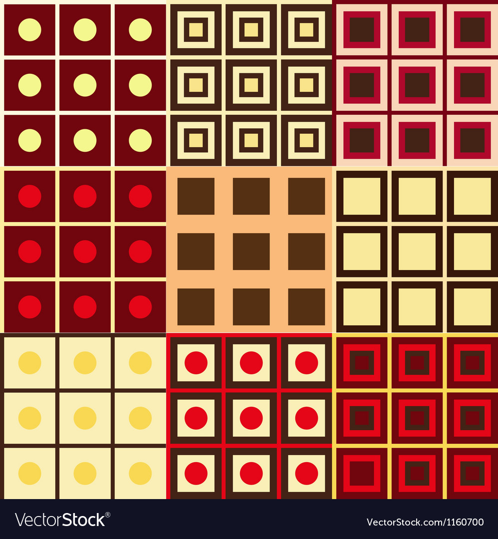 Set of geometry patterns vector