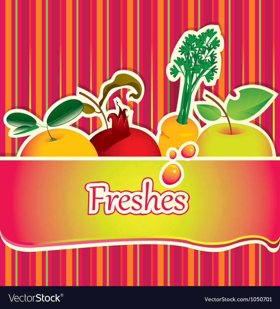 Freshes background vector