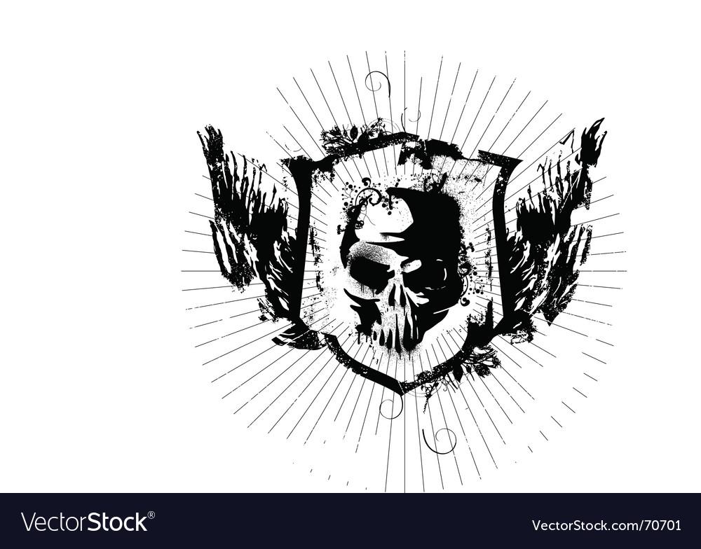 Ink skull vector