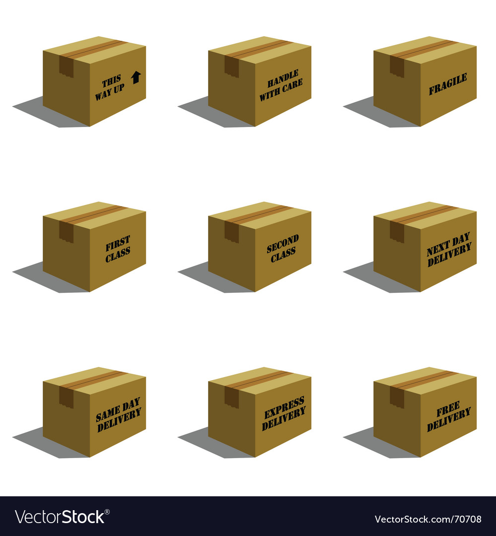 Cardboard mail boxes vector