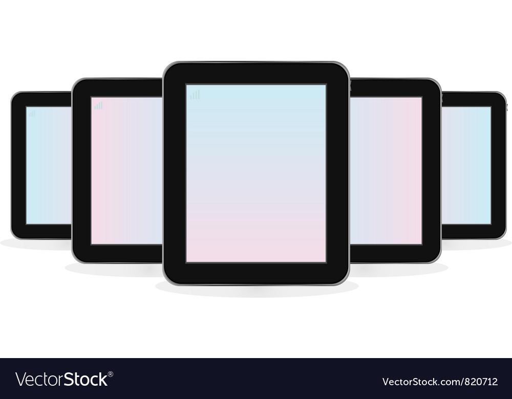 Digital tablet computer vector