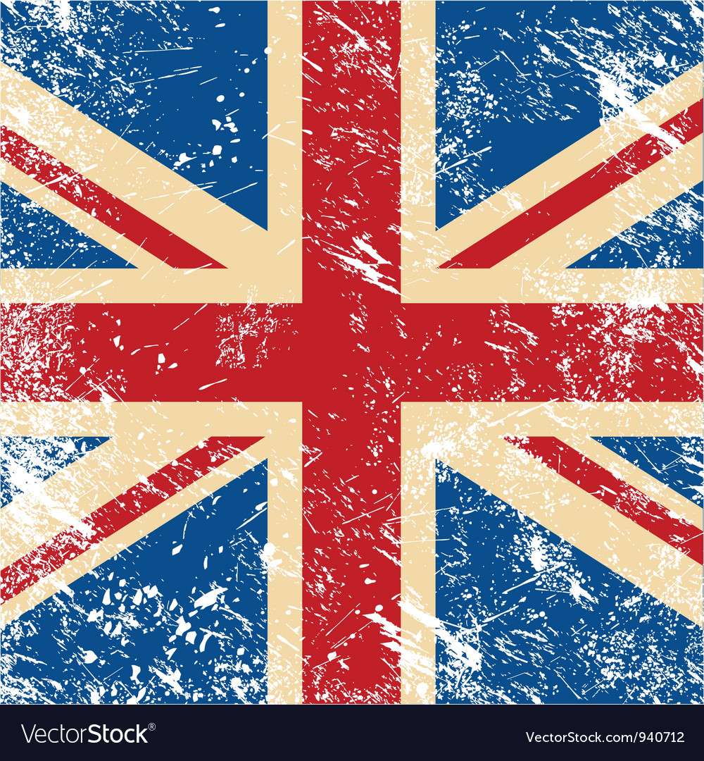Uk retro flag vector