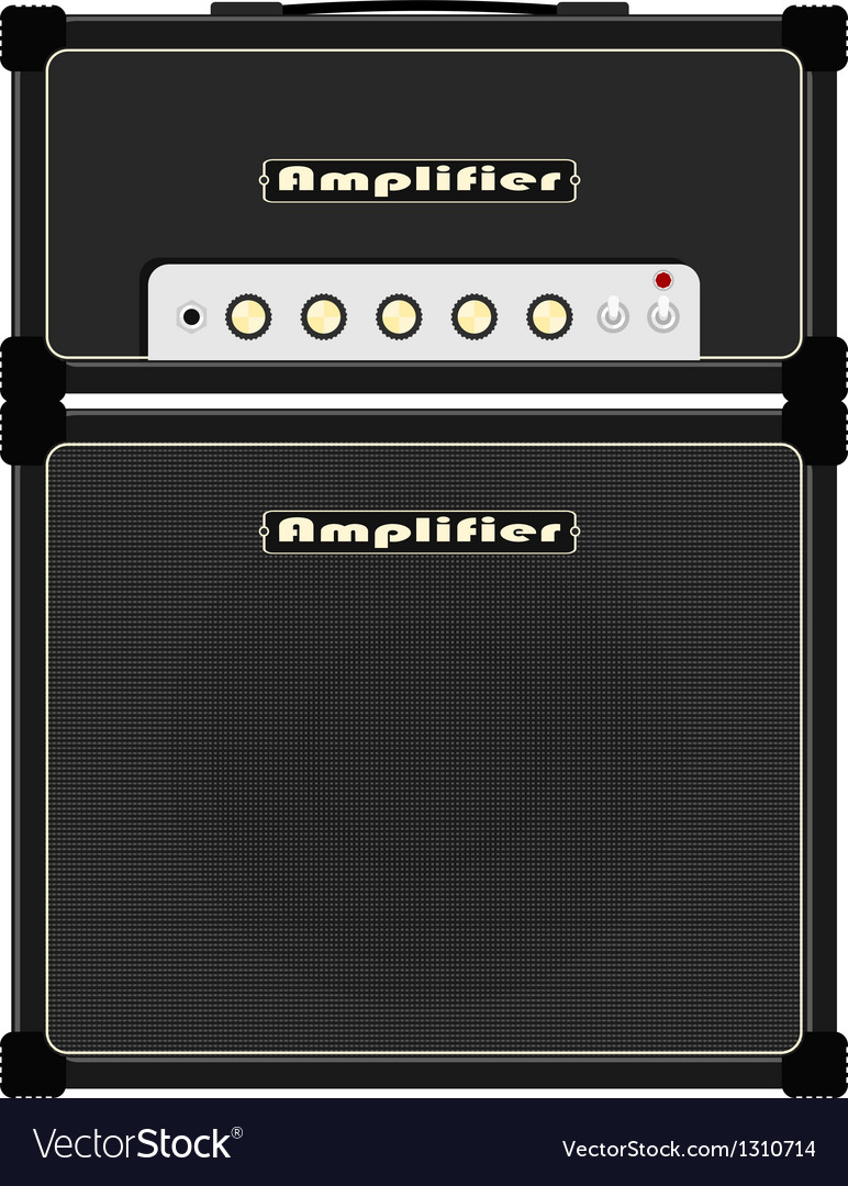 Guitar amplifier vector