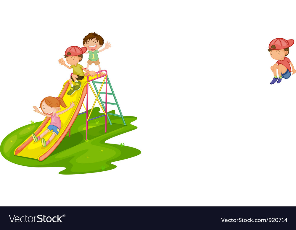 Kids at a park vector