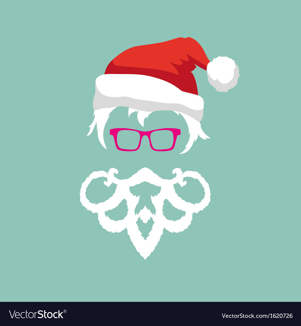 Santa claus hipster fashion style vector