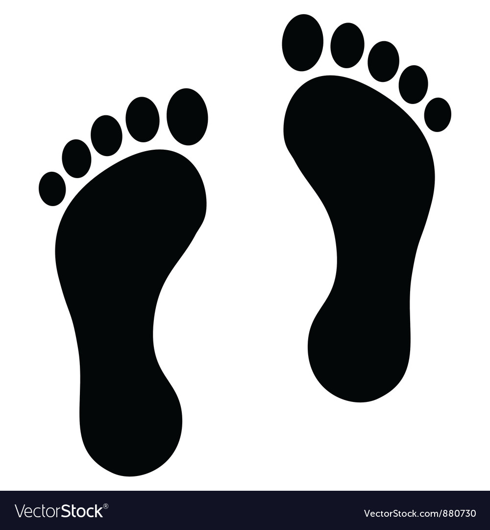 Footprint black vector