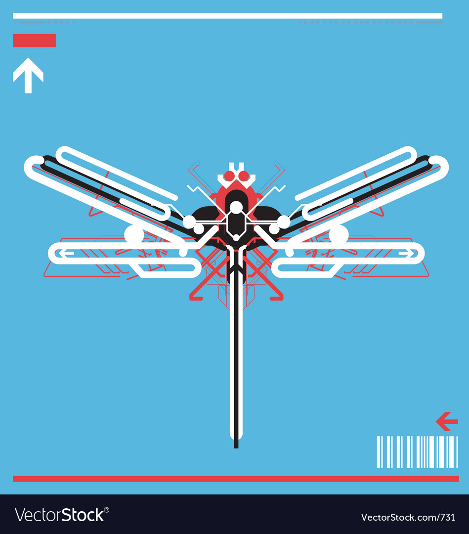 Free high tech robot dragonfly vector
