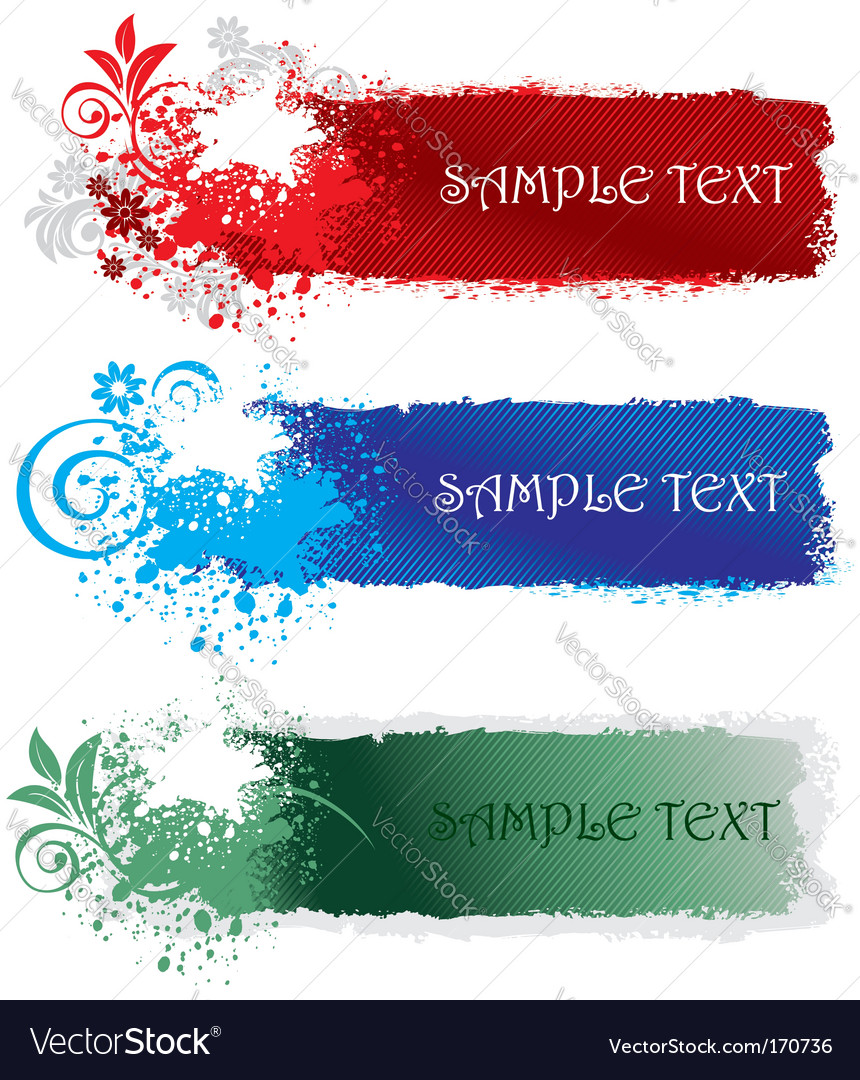 Set of splatter banners vector