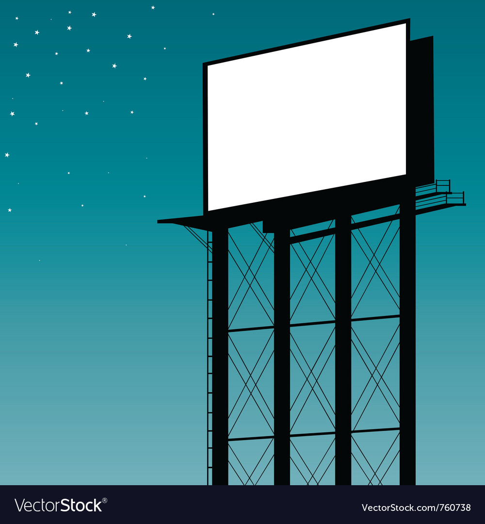 Outdoor billboard vector