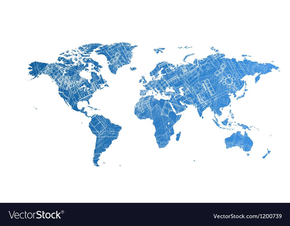World map design concept vector