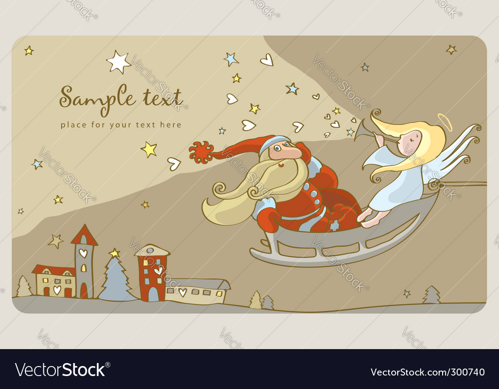 Santa claus background vector