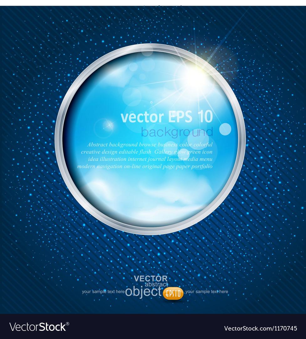 Sky through the window vector