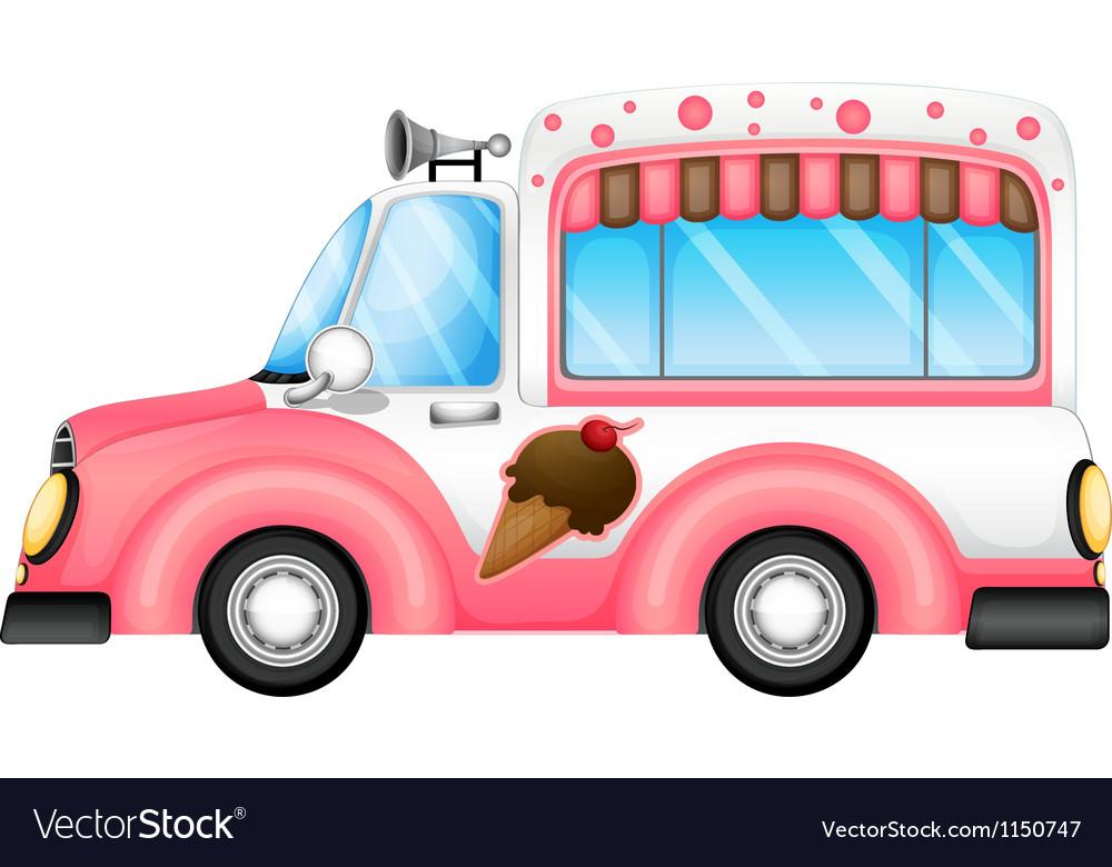 An ice cream car vector