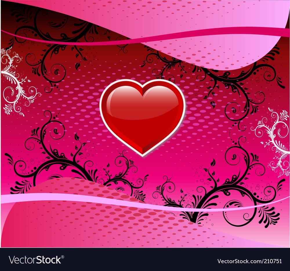 Valentine heart background vector