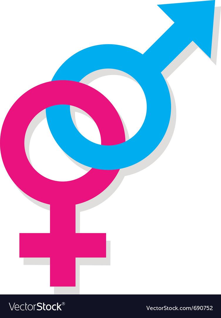 Man and woman symbols vector