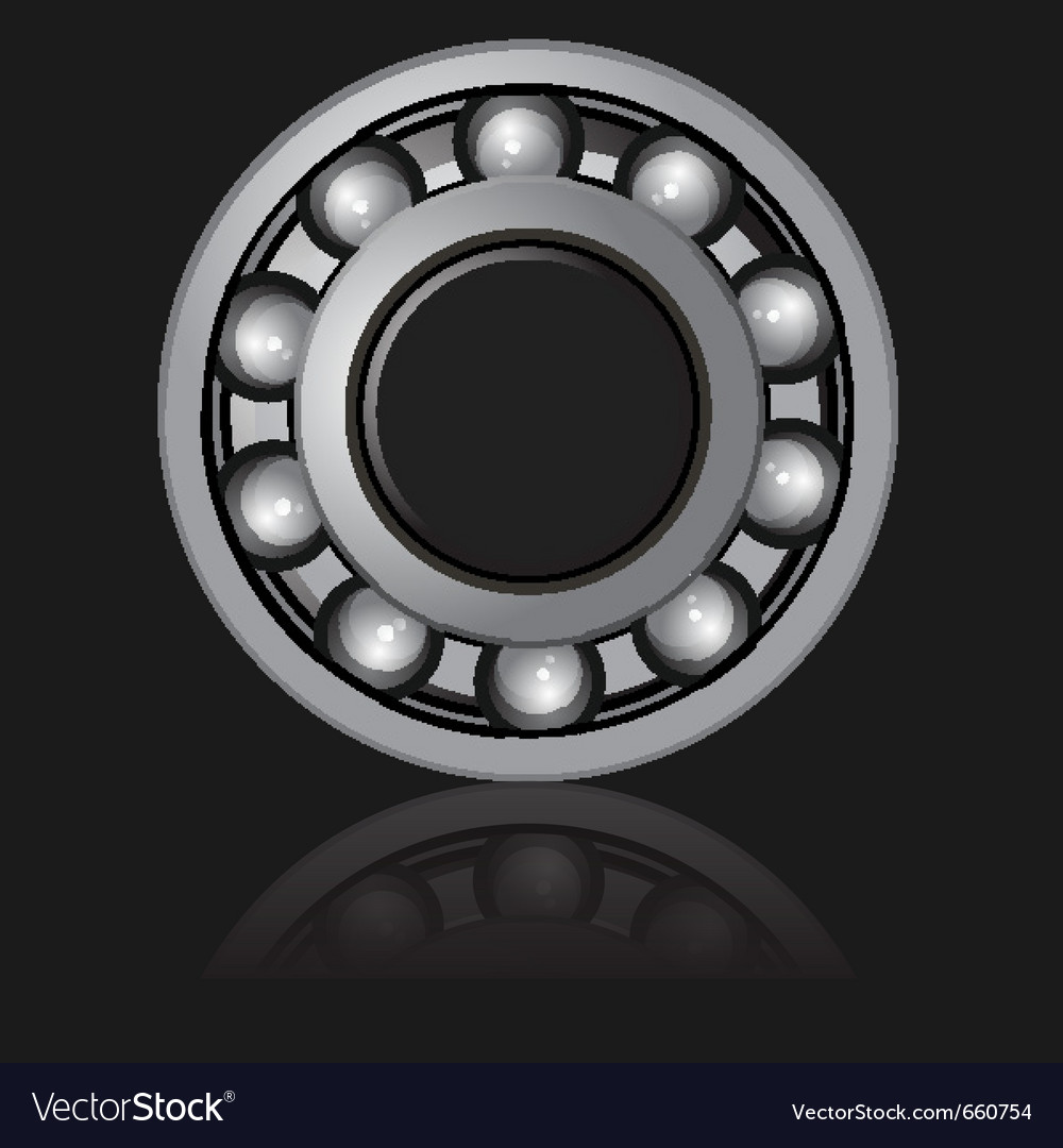 Bearings on a black background vector