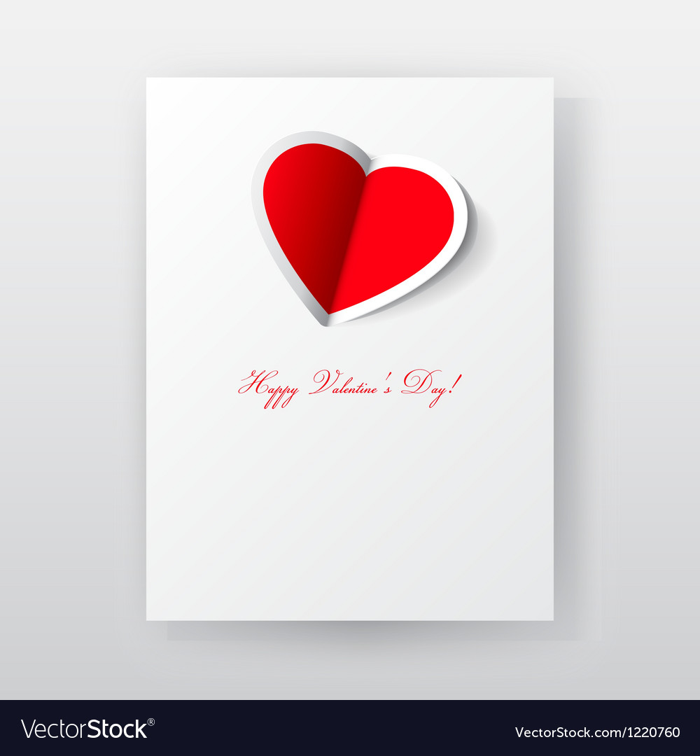 Valentines day paper card vector