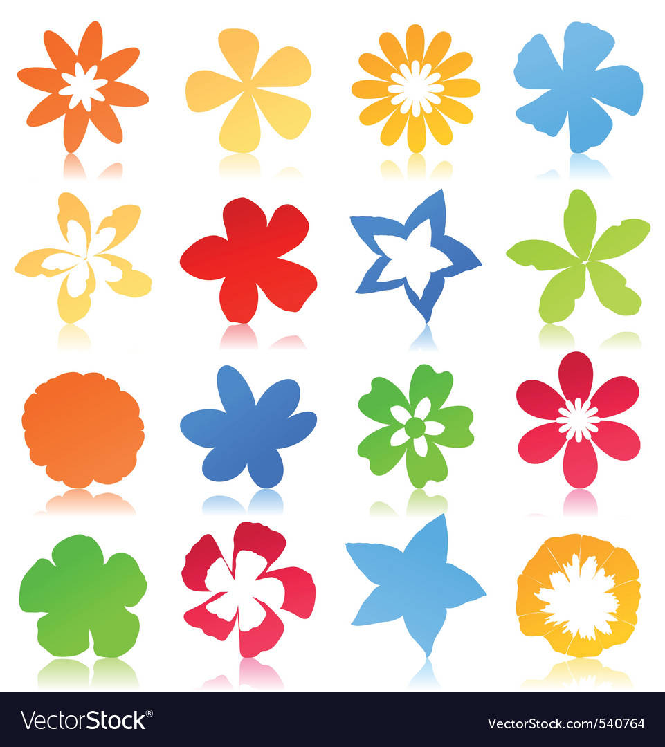 Real Flower Icons Flower icons vectorReal Flower Icons
