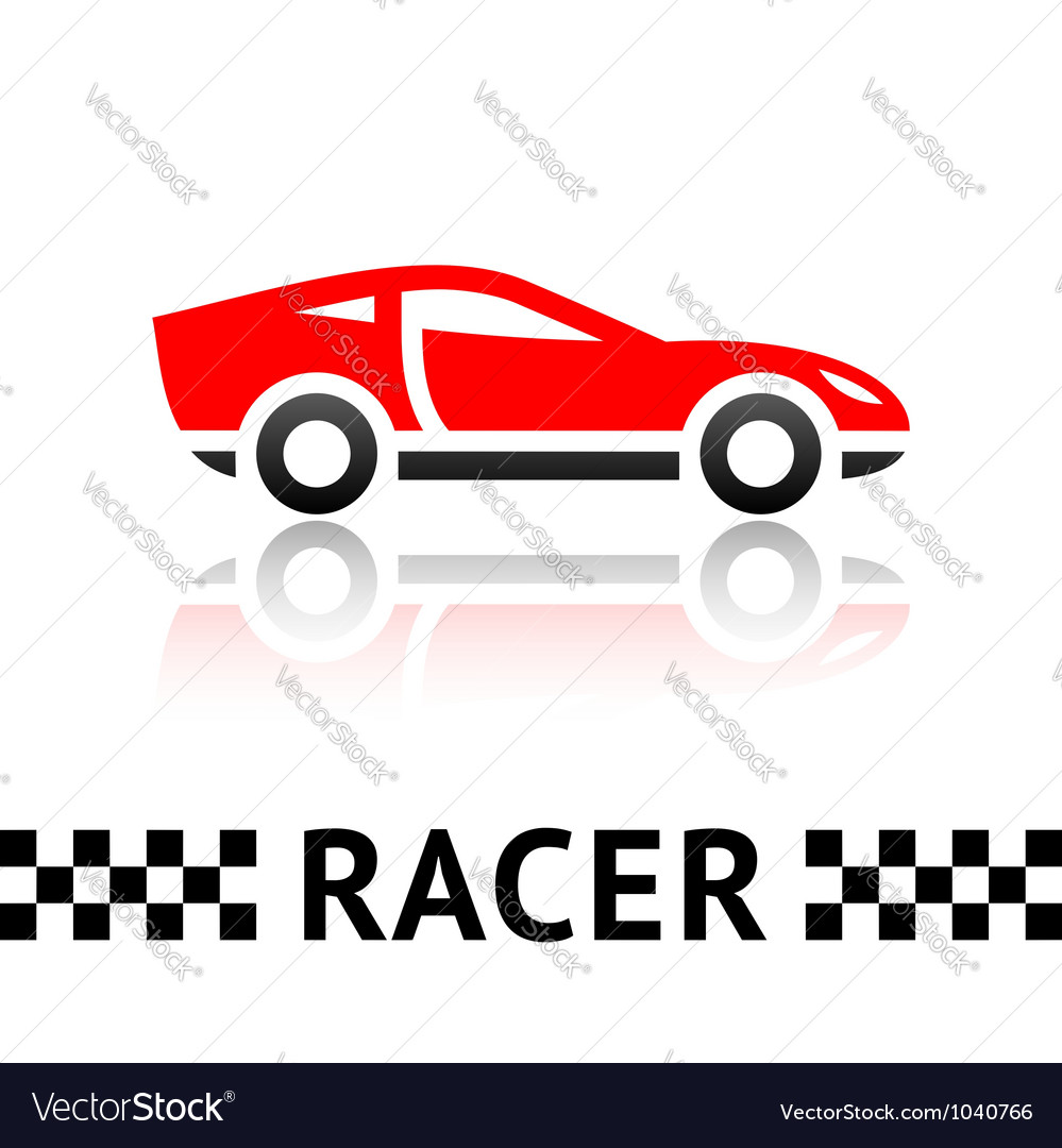 Race car symbol vector  Race Car Icon