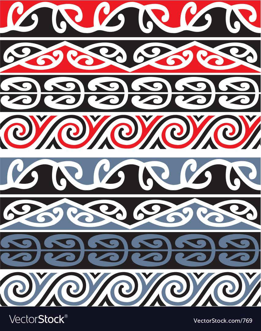 Maori designs vector