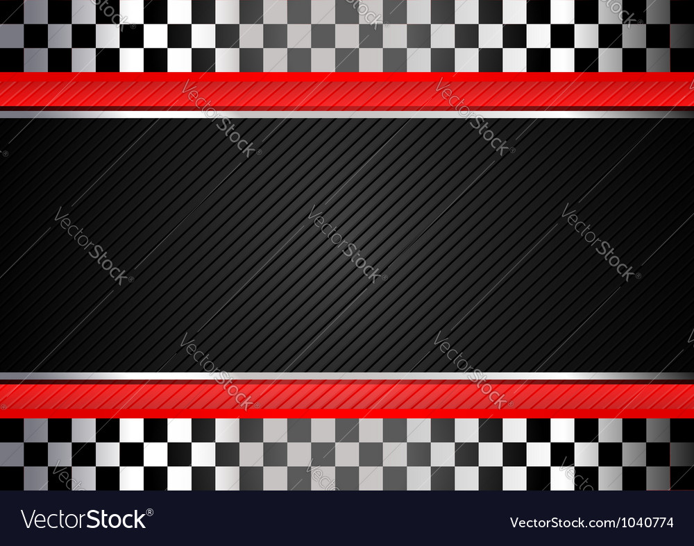 Racing black striped background vector