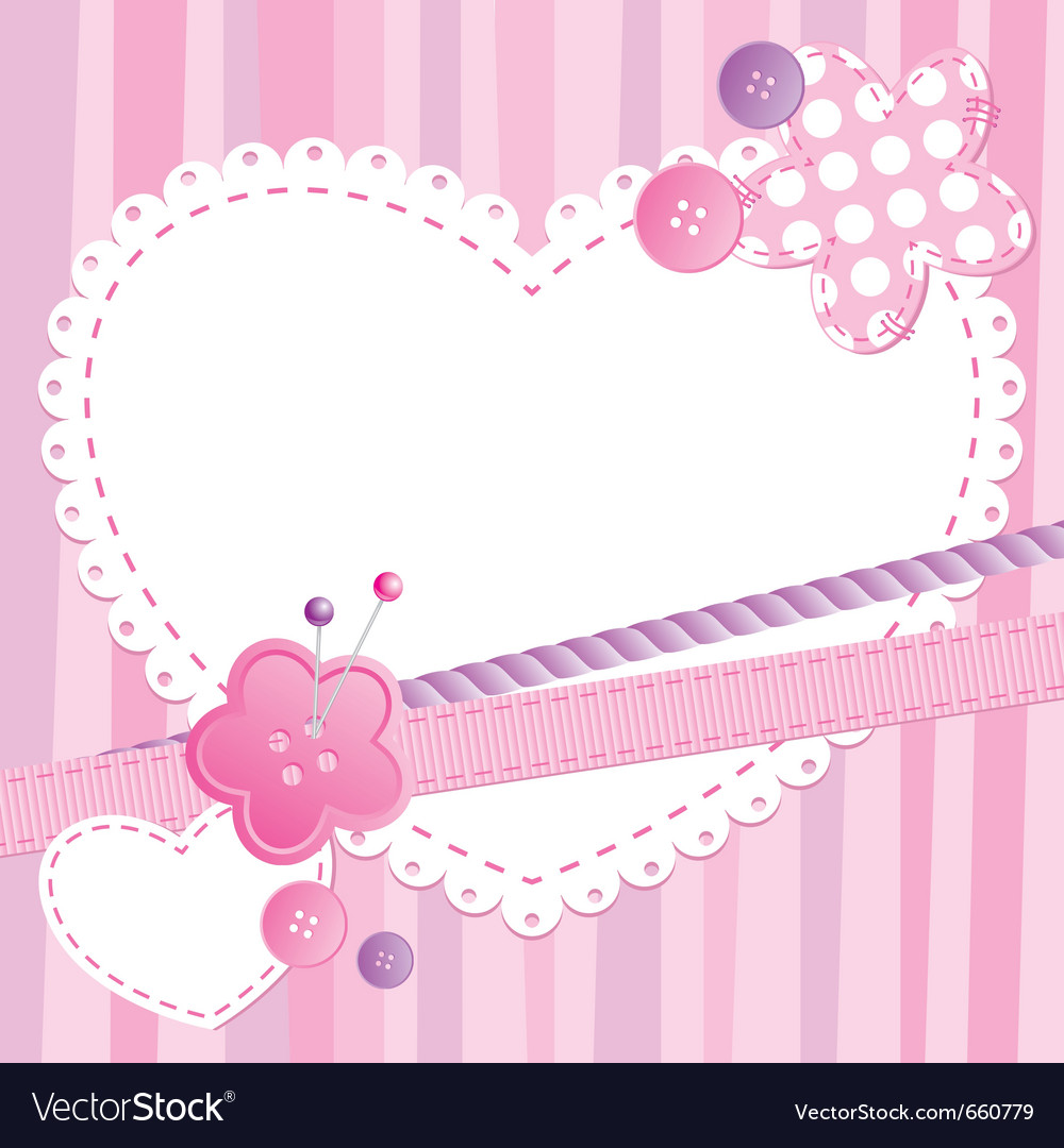 Cute frame vector