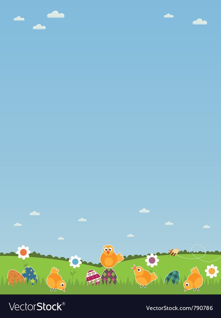 Easter landscape vector