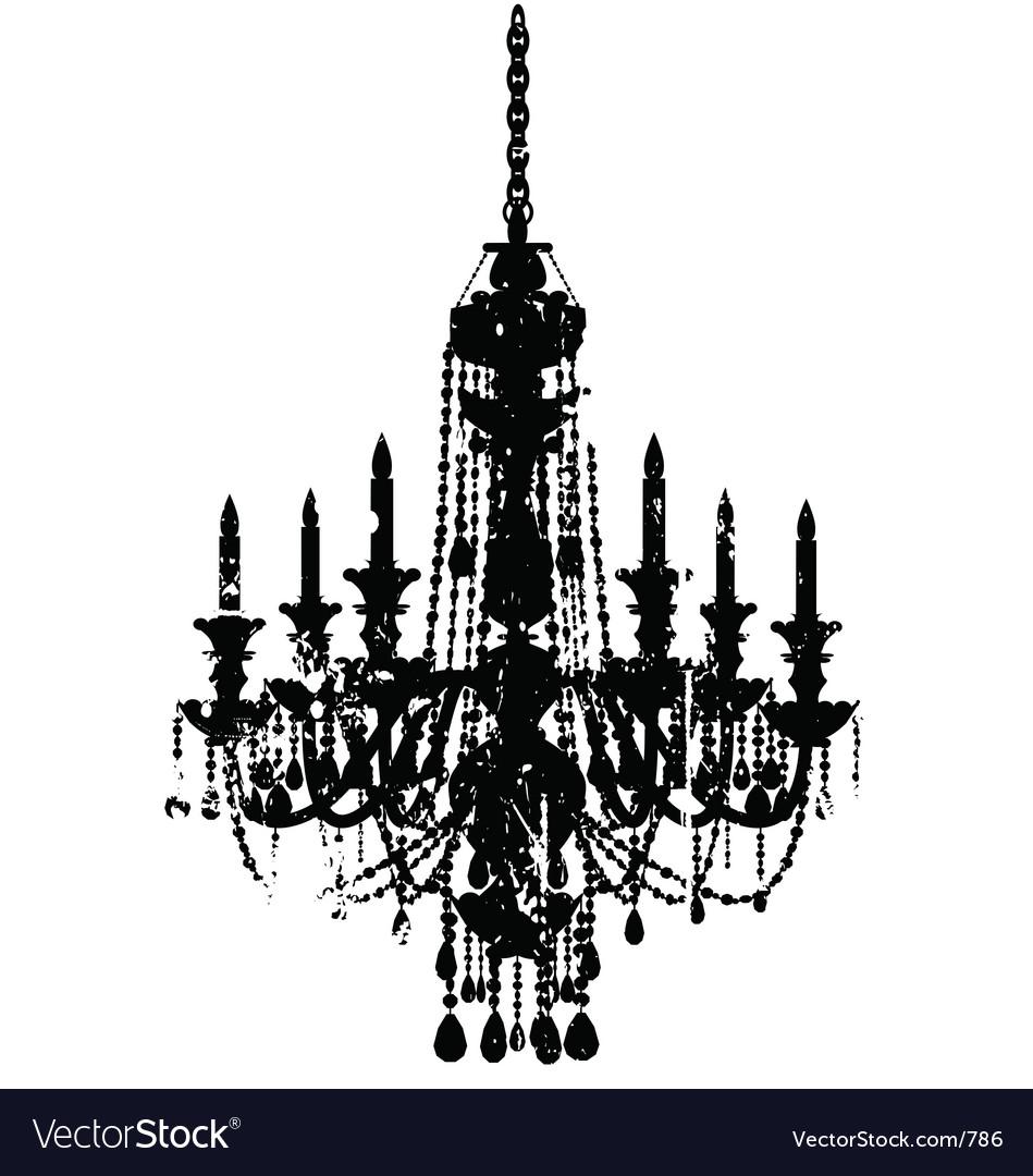 Free vintage chandelier vector