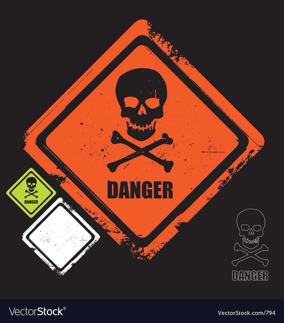 Free danger sign vector