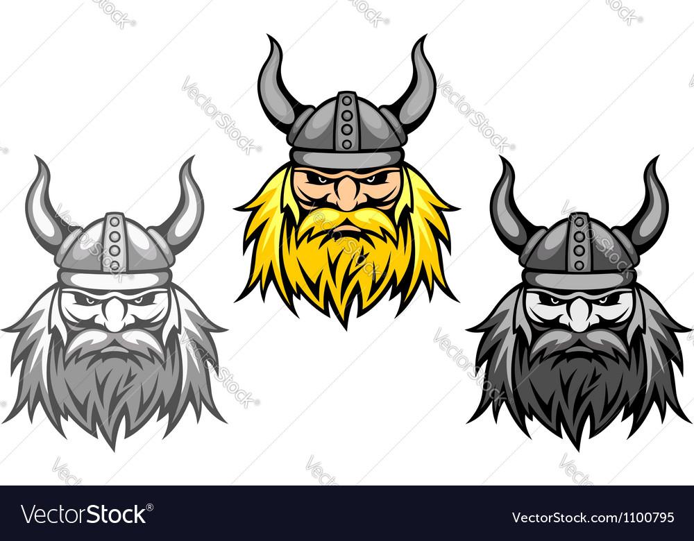 Agressive viking warriors vector