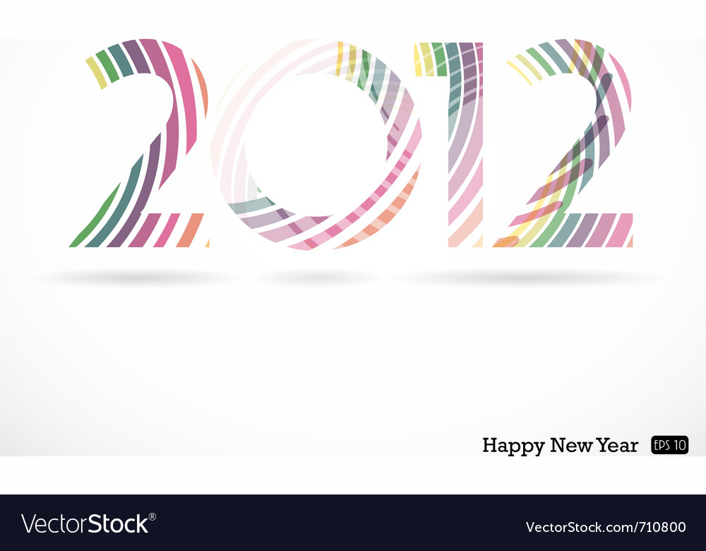 2012 and happy new year vector