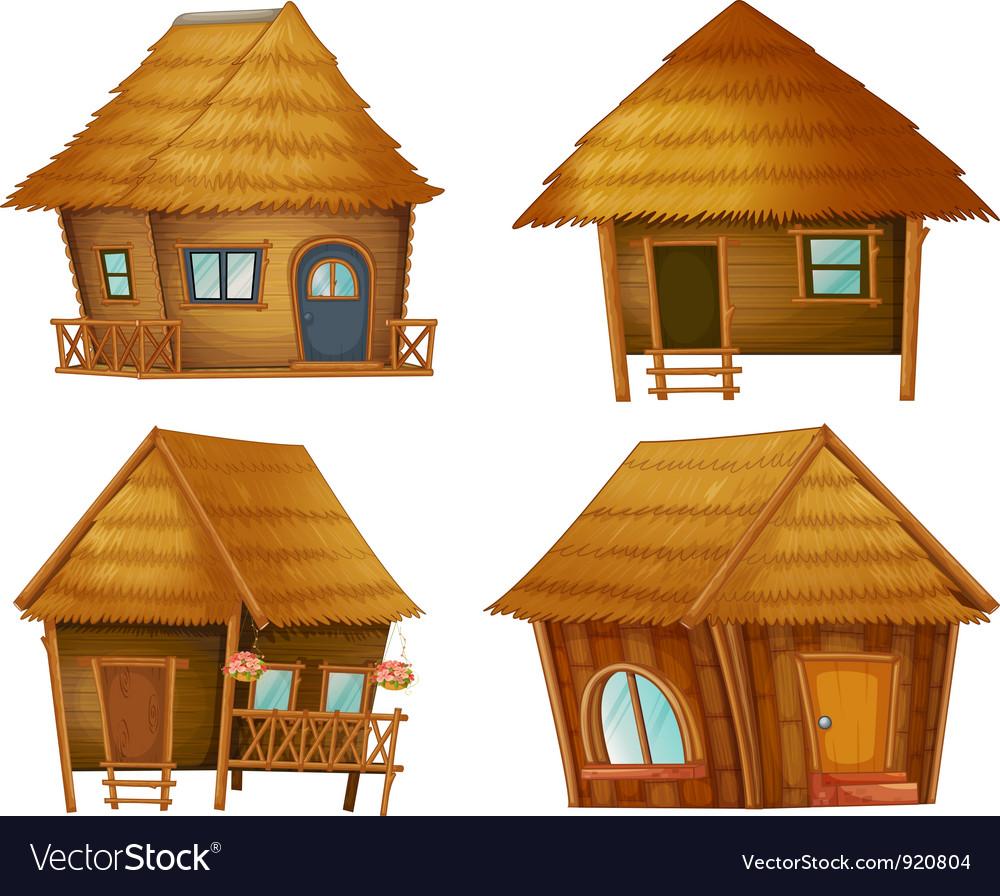 Hut series vector