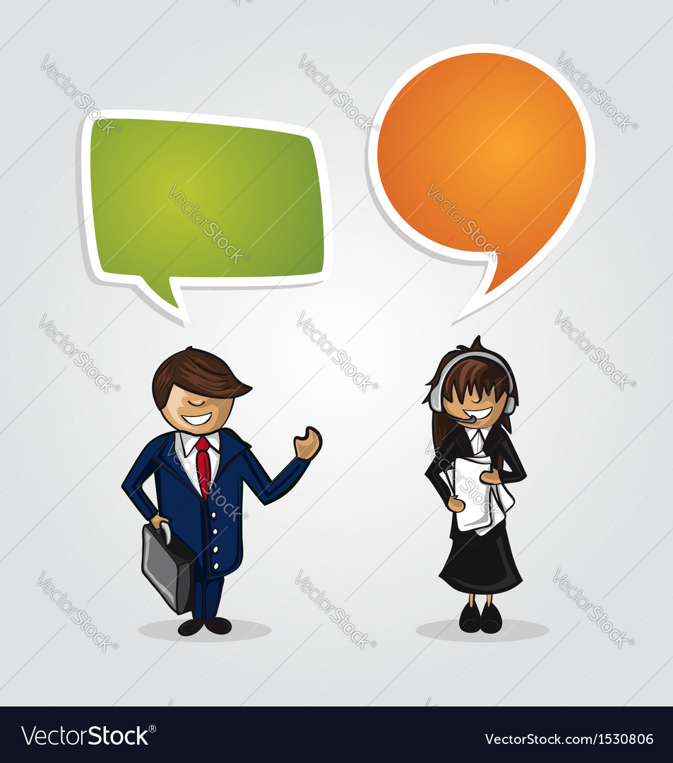 Work group business cartoon people vector