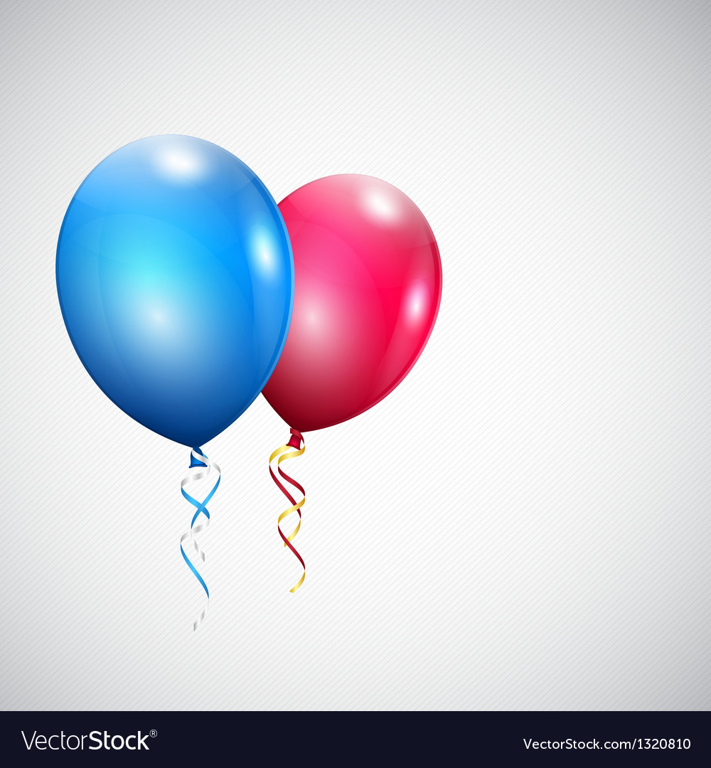 Two balloons vector